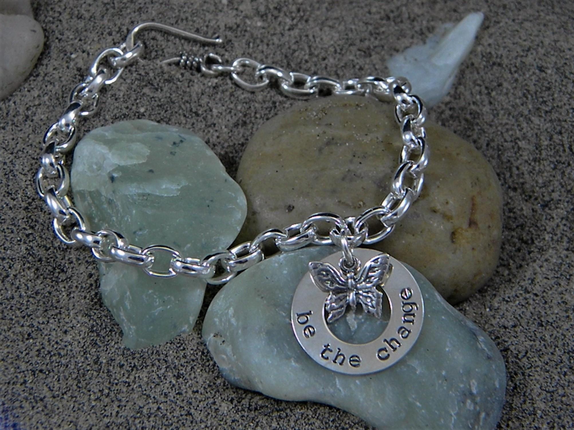 Be The Change Charm Bracelet